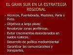 el gran sur en la estrategia regional
