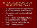 estructura espacial de las reas metropolitanas