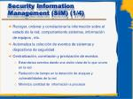 security information management sim 1 4