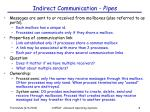 indirect communication pipes