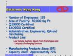 datatronic hong kong
