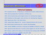 datatronic milestones