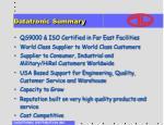 datatronic summary