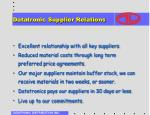datatronic supplier relations