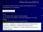 function polyfit m