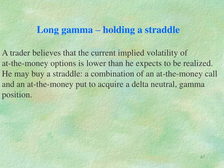 Long gamma – holding a straddle