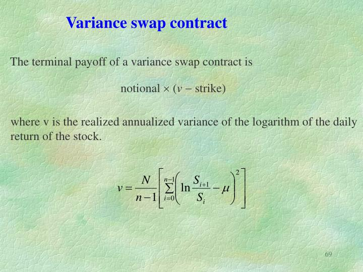 Variance swap contract