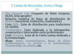 f listas de discusi n foros y blogs