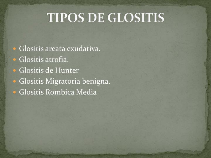 Tipos de glositis