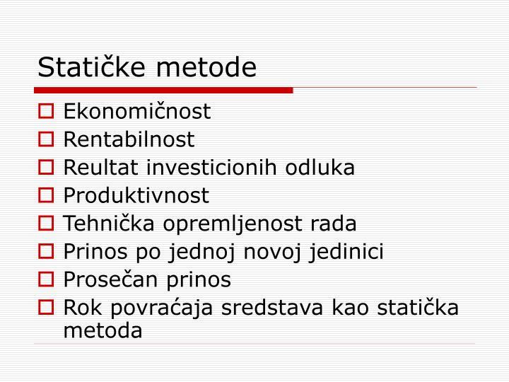 Statičke metode