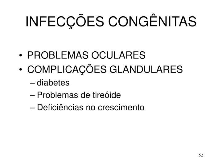 INFECÇÕES CONGÊNITAS