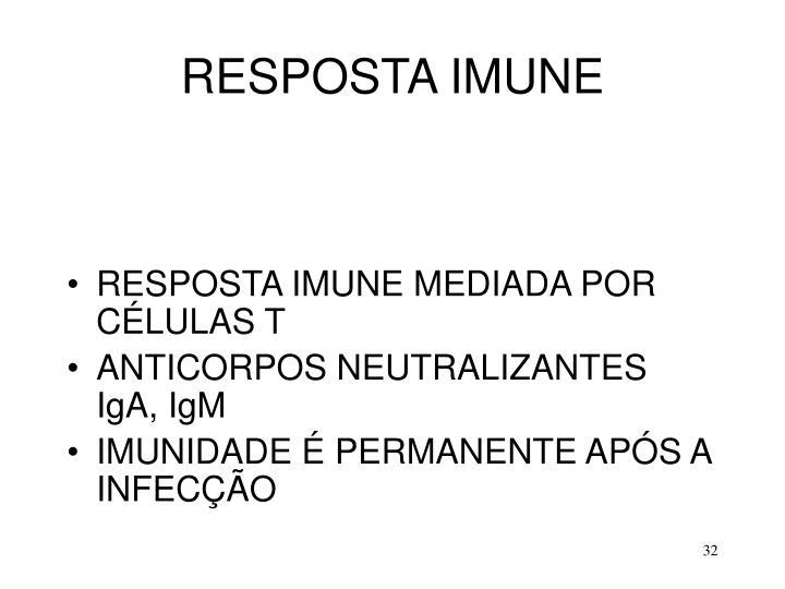 RESPOSTA IMUNE