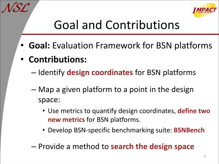 Goal and Contributions