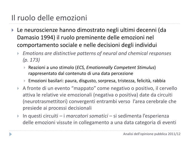 Il ruolo delle emozioni