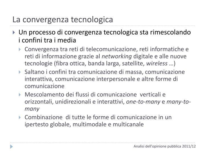 La convergenza tecnologica