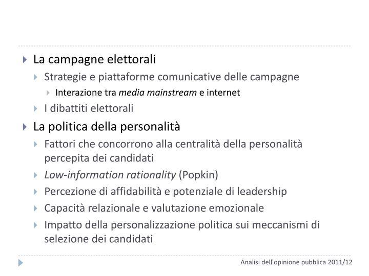 La campagne elettorali