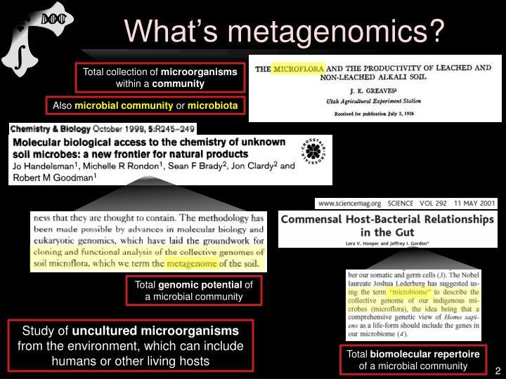 What s metagenomics