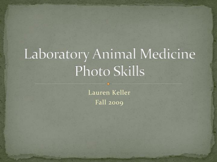 Laboratory animal medicine photo skills