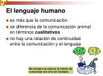 el lenguaje humano