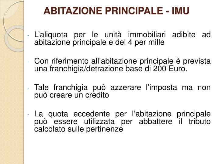 ppt imposta municipale unica imu powerpoint presentation