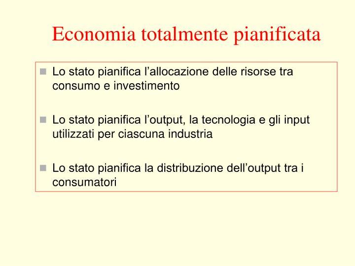 Economia totalmente pianificata