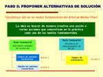 paso 5 proponer alternativas de soluci n