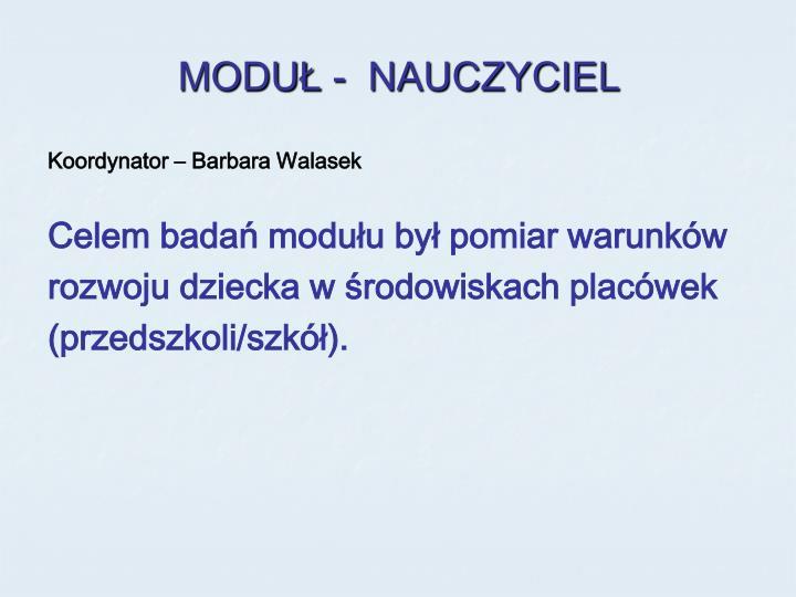 MODUŁ -  NAUCZYCIEL
