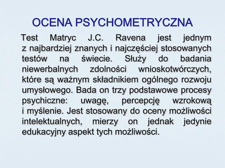 OCENA PSYCHOMETRYCZNA