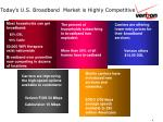 today s u s broadband market is highly competitive