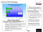 verizon fios strategy