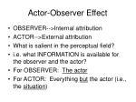 actor observer effect