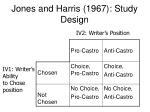 jones and harris 1967 study design