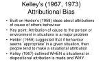 kelley s 1967 1973 attributional bias