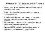weiner s 1972 attribution theory1