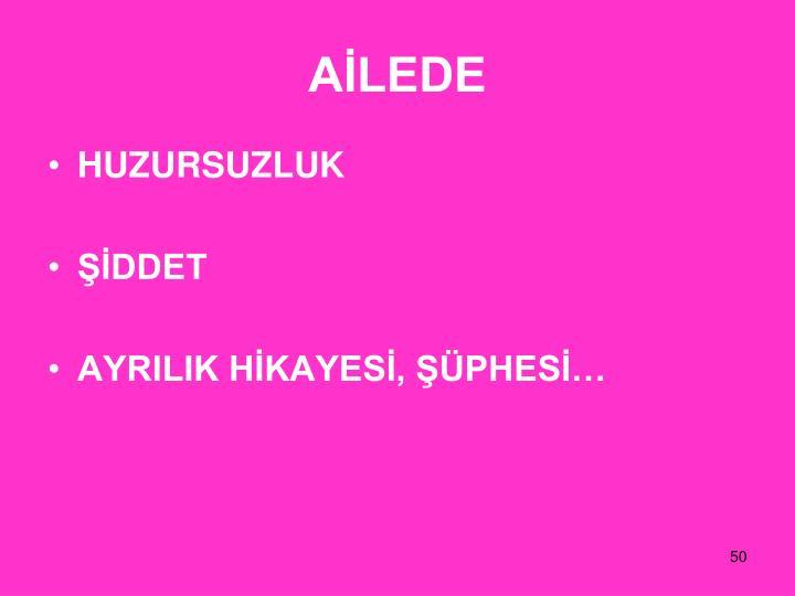 AİLEDE
