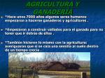 agricultura y ganader a