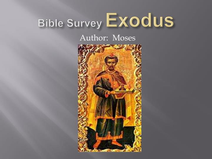 Bible survey exodus1