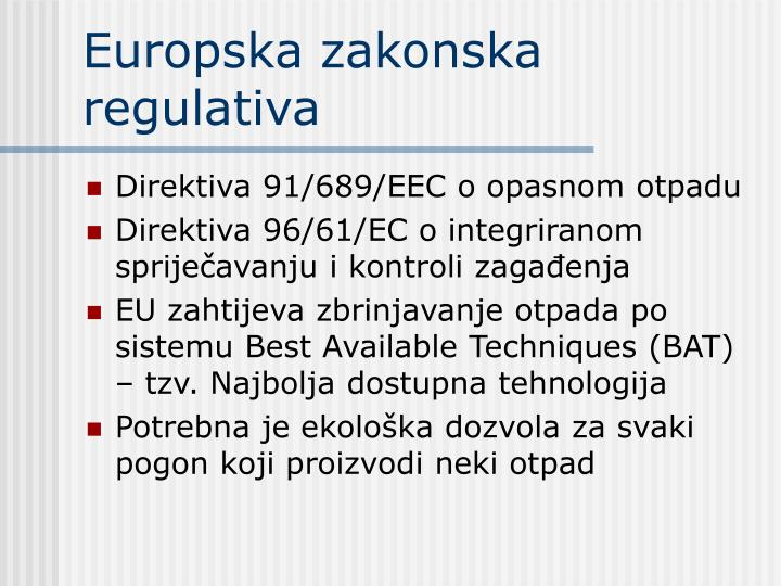 Europska zakonska regulativa