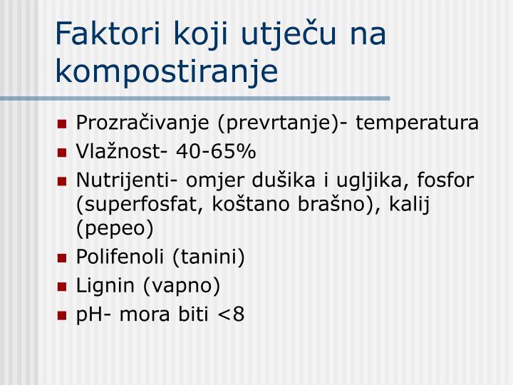 Faktori koji utječu na kompostiranje
