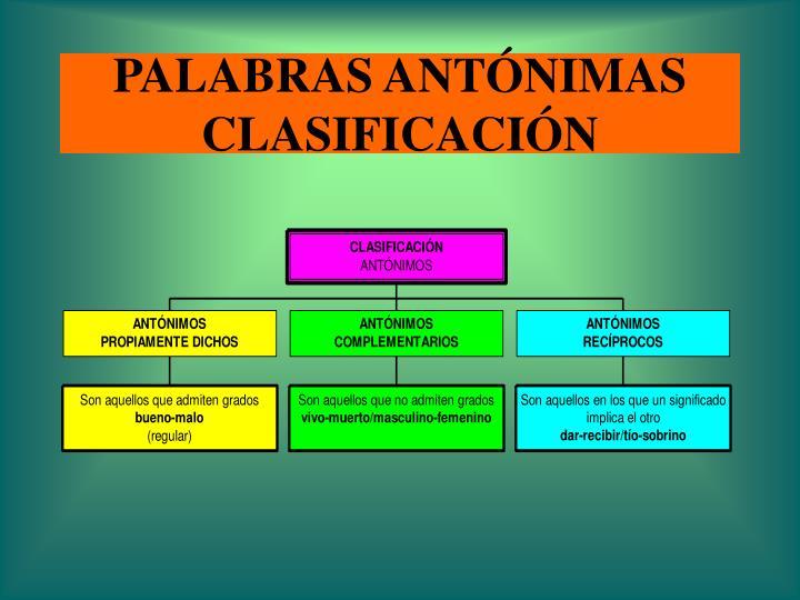PALABRAS ANTÓNIMAS