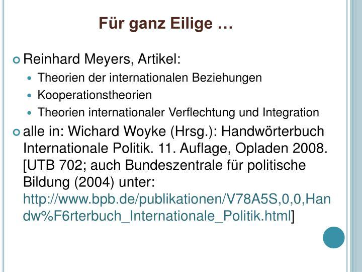 handworterbuch internationale politik