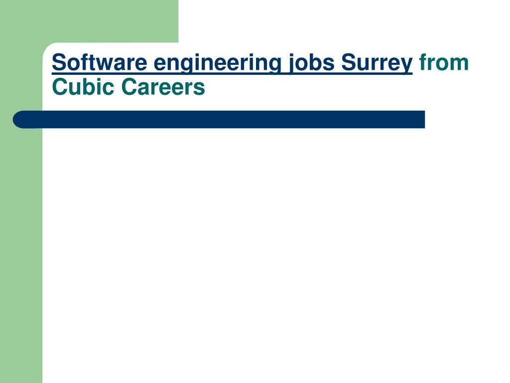 software engineering jobs surrey from cubic careers l.