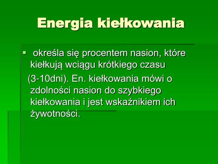 Energia kiełkowania