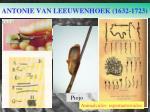 antonie van leeuwenhoek 1632 1723