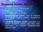 finansal analiz t rleri