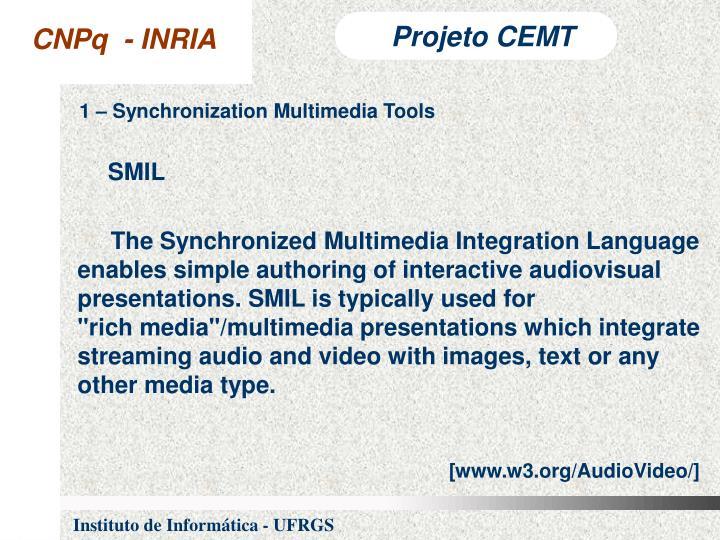 1 – Synchronization Multimedia Tools