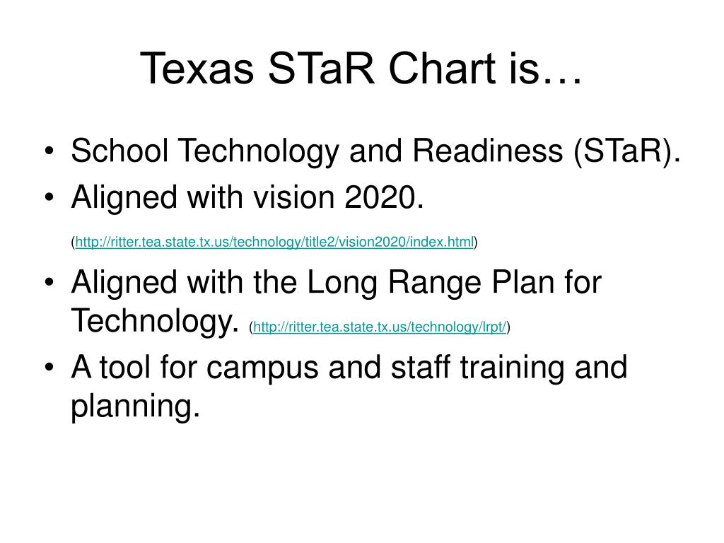 Texas STaR Chart is…