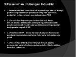 3 perselisihan hubungan industrial
