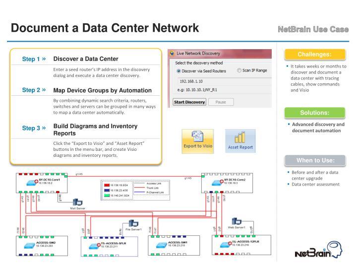 Document a Data Center Network