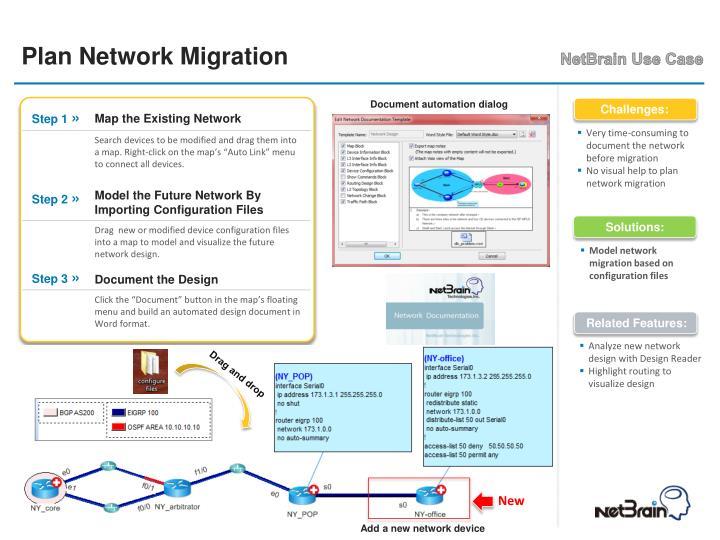 Plan Network Migration